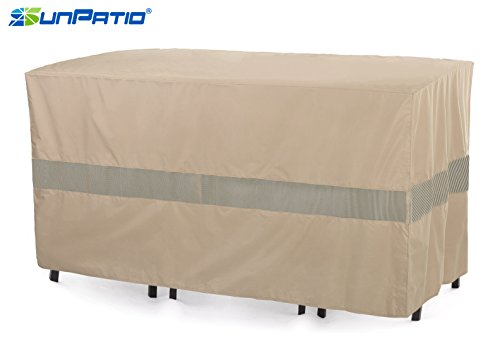 SunPatio Outdoor Bistro Cover, Extremely Lightweight, Water Resistant, Eco-Friendly, Helpful Air Vents, 69