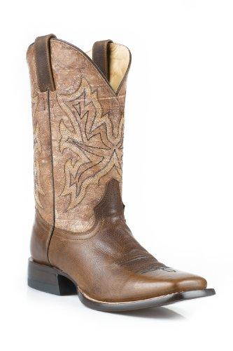 Stetson Hombres Western Cowboy Botas Square Toe 0868 Marrón