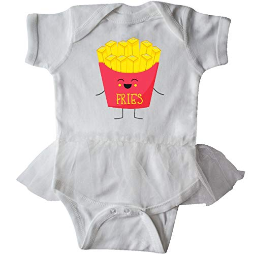 inktastic - French Fries Costume Infant Tutu Bodysuit Newborn White -