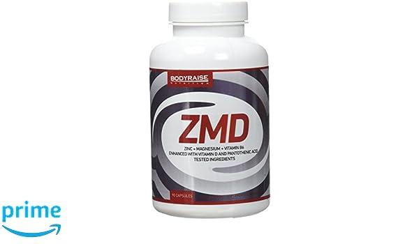 Bodyraise - ZMD 90 Cápsulas - Zinc, Magnesio y B6 - Fórmula de Vitaminas y Minerales Esencial para Deportistas - Potencia el Sistema Inmune - 30 Dosis: ...