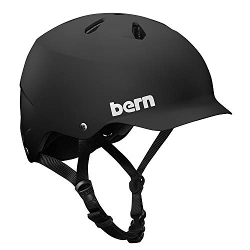 BERN - Summer Watts EPS Helmet, Matte Black, Large (Burn Helmets)