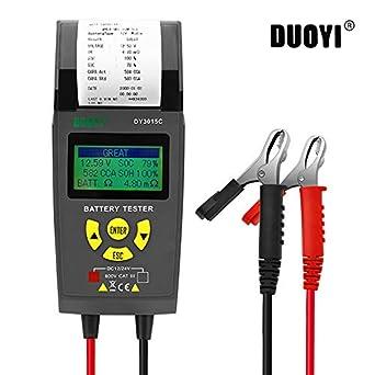 Comprobador de batería para automóviles de 12V/24V, probador de ...