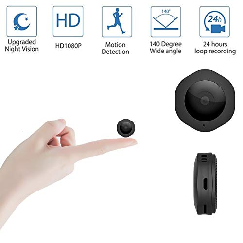Spy Camerai, 1080P Mini Hidden Camera Body Camera Video Recorder with Motion Detection and Night Vision for Home Security, Support Max 64GB (NO SD Card Included)