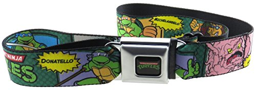 Classic Teenage Mutant Ninja Turtles Seatbelt Belt Comic Scenes