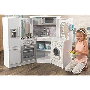 KidKraft Ultimate Corner Play Kitchen Set – White (Amazon Exclusive)