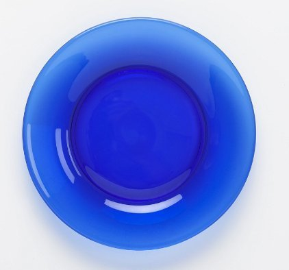 Plate Salad Blue Country (Mosser Glass 8