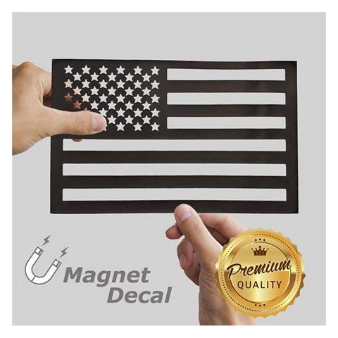 WHITE RHINO American Flag Decal Magnet Cut-Out Truck Jeep Wrangler Decals 5.5 X 9 inches
