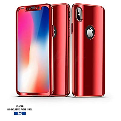 iPhone Xs Max Case, Ultra Slim Electroplate 360 Degree Full Body Protection Mirror Case with Tempered Glass Screen Hard PC Protector for Apple iPhone Xs Max (Red) - 4012344 , B07JM6WH4Y , 454_B07JM6WH4Y , 13.99 , iPhone-Xs-Max-Case-Ultra-Slim-Electroplate-360-Degree-Full-Body-Protection-Mirror-Case-with-Tempered-Glass-Screen-Hard-PC-Protector-for-Apple-iPhone-Xs-Max-Red-454_B07JM6WH4Y , usexpress.vn , iPhone Xs Max C