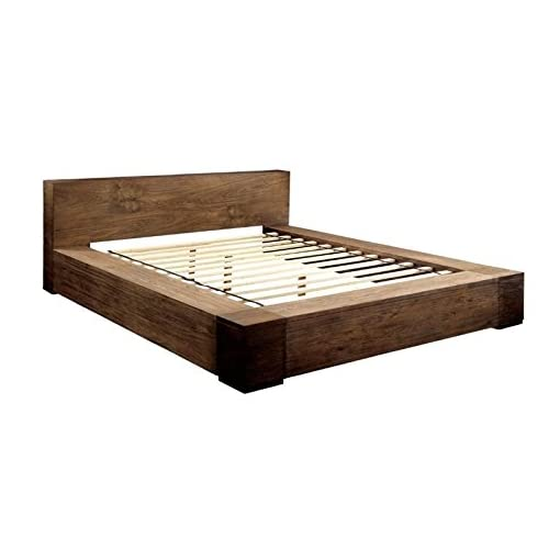 Bedroom BOWERY HILL Queen Platform Bed in Rustic Natural farmhouse beds and bed frames