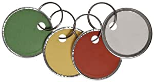 Avery Assorted Split Ring Metal Rim Key Tag , 1-1/4 Inches, Pack of 50 (11-026)