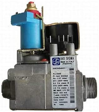 Válvula de gas Sit 845070 Sigma para calderas Beretta/Riello/Hermann/Sime/Unical