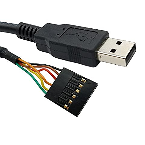 USB to TTL 3.3V Serial UART Converter Cable with FTDI Chip Terminated by 6 Way Header, Works with Galileo Gen2 Boards/BeagleBone Black/Minnowboard Max and (Arduino Galileo 2)