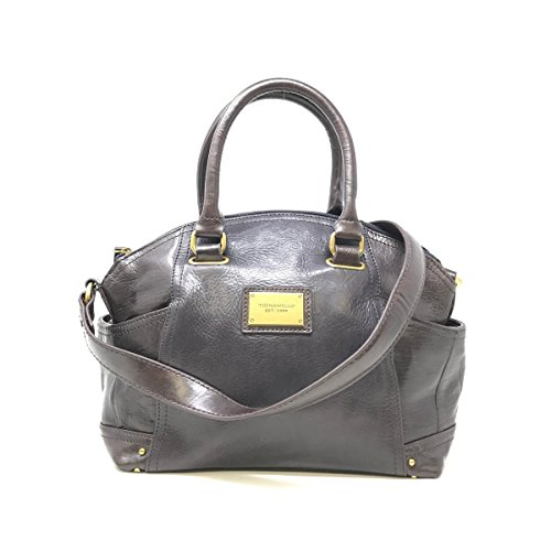 Tignanello A235985 Navy Glazed Vintage Leather Satchel Bag