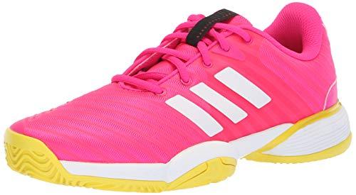 - adidas Unisex Barricade 2018 Running Shoe, Pink/White/Shock Yellow, 6 M US Big Kid