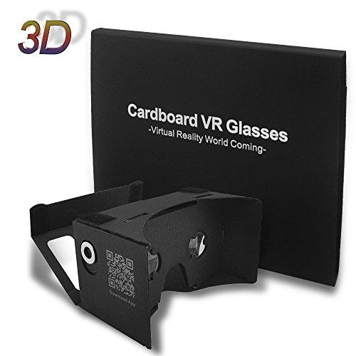 Epple Google Cardboard 3d Vr Virtual Reality DIY 3d Glasses for Smartphone with Headband ,Black