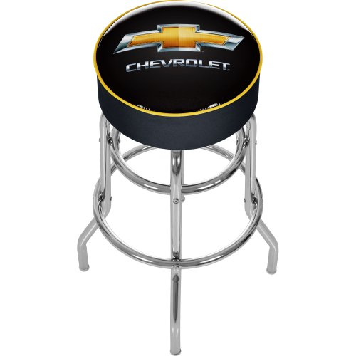 Chevrolet Padded Swivel Bar Stool (Shop For Bar Stools)