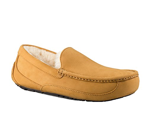 UGG Mens Ascot Slipper Wheat Size 8 (Slipper Ascot)