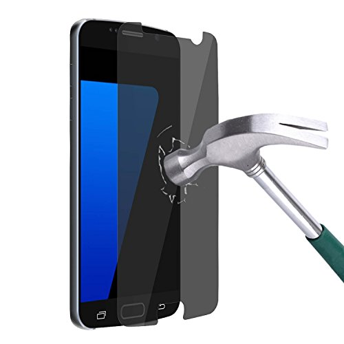 Galaxy S7 Screen Protector, Ulifestyles Mirror Real Tempered Glass Anti Spy Privacy Screen Protector for Samsung Galaxy S7,9H Hardness,High Definition Clear,Explosion-Proof,Anti Shatter, Black