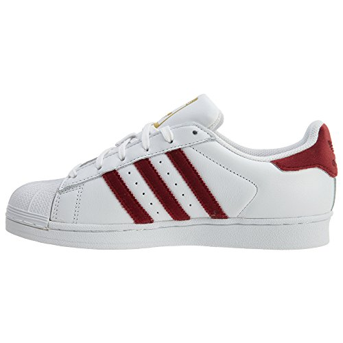 Adidas Vrouwen Superster Bordeaux / Wit Ac7162 (grootte: 9)