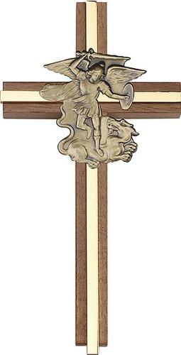 Icecarats Créatrice De Bijoux 6 Pouces R. Michael Cross, Noyer Antique Incrustation W / Or 6 X 3 Pouces