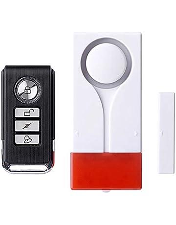 REFURBISHHOUSE Alarma De Seguridad Para El Hogar Destello Rojo Con Sonar Detector Del Sensor Del Iman