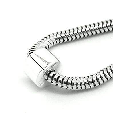 06386bb8a Moondrops Clip Stopper - Lock - Spacer - Plain - Hinged - 925 Sterling Silver  for 3mm charm bracelet- European: Amazon.co.uk: Jewellery