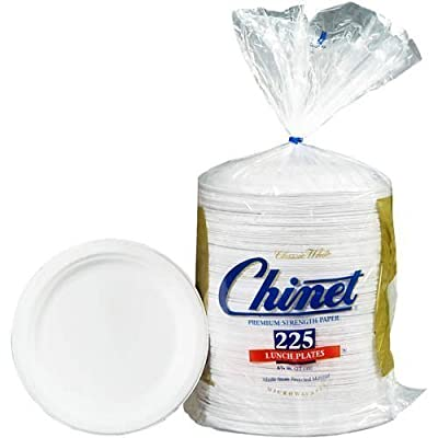 """Chinet Paper Lunch Plates, 8 3/4"""", 225 Count"""