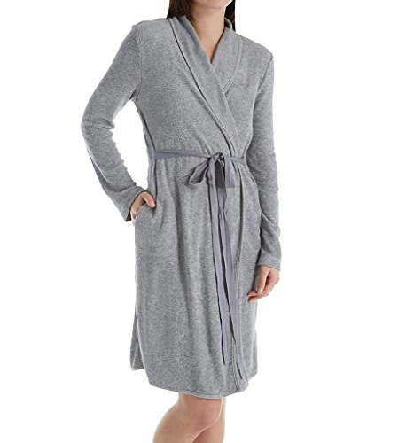 Skin Women's 40¿ French Terry Robe Heather Grey 2 (Robes Terry French)