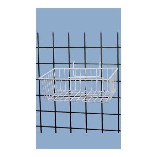 Case of 3 White Powder Coat Finish Mini-Grid Basket - 12''L x 8''W x 4''D by Mini-Grid Basket