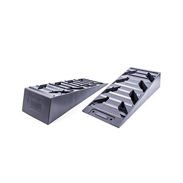 41W6siur7cL Fiamma Ausgleich, Auffahr-Keil 2er Set - bis 5000 kg, 40/43 x 17 x 9,5 cm für Wohnwagen oder Wohnmobil