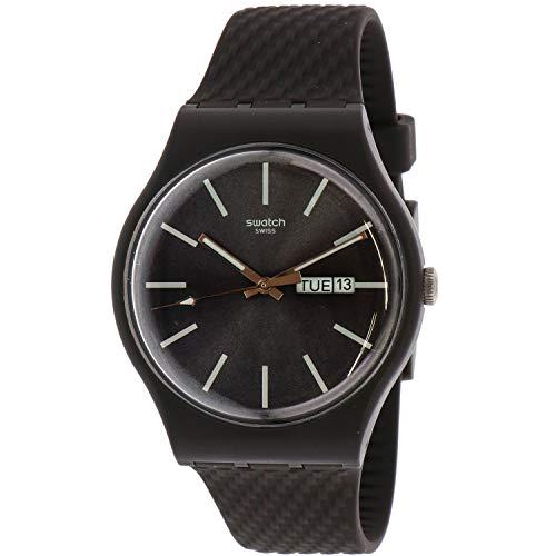 Swatch Bricagris SUOM708 Grey Silicone Quartz Fashion Watch