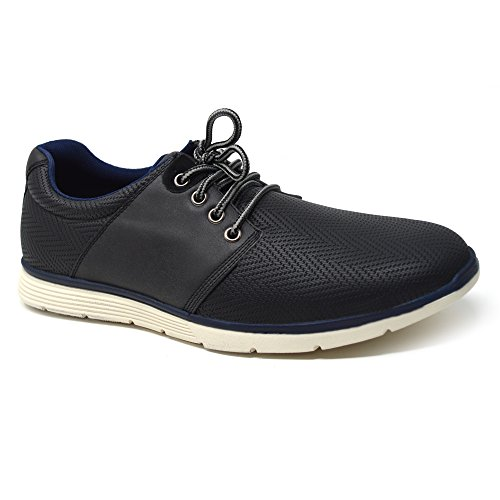Xelay , Herren Sneaker Low-Tops Denim Black