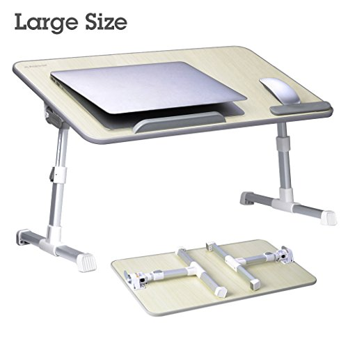 [Large Size] Adjustable Laptop Bed Coach Table, Portable Standing Desk, Foldable Sofa Breakfast Tray, Notebook Stand Reading Holder for Couch (Honeydew) - Avantree Minitable L