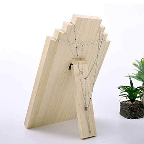 Dovewill Unfinished Wood Wooden Display Stands Necklace Holder Jewelry Display Board Rack 3 Sizes - Small by Dovewill (Image #3)