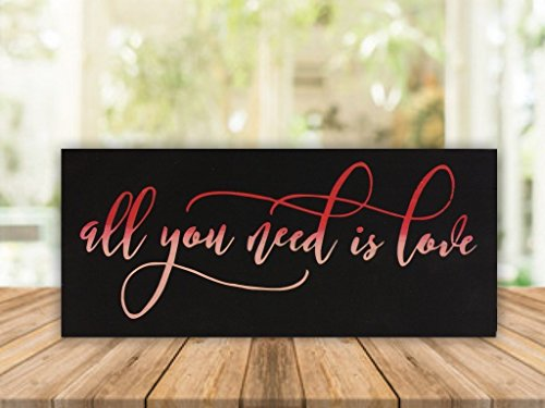 """All you need is love - 6""""x12"""" wood sign"""
