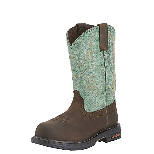 ARIAT Womens Tracey H2O Composite Toe Boot Oily Distressed Brown/Turquoise Size 7