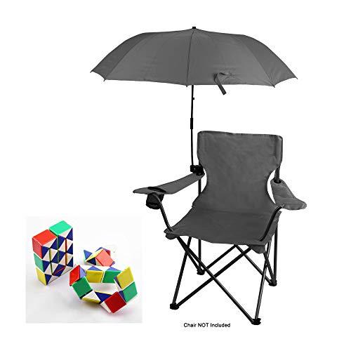 (Genesis21 Ozark Trail Chair Umbrella Dark Grey with 3D Snake Cube Puzzle)