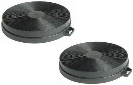 Juego de 2 filtros de carbón para campana extractora 21 cm: Amazon.es: Grandes electrodomésticos