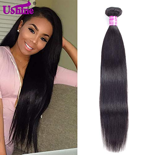 Ushine Brazilian Straight Hair 1 Bundle 24 inch Unprocessed Virgin Hair Bundles 8A Grade Weave Hair Human Bundles Soft And Silky Can Be Dyed(24
