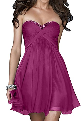 Pink Abendkleider mia Damen Kurzes Cocktailkleider Partykleider Dunkel La Lila Rock Braut Heimkehr Tanzenkleider Empire Mini wUx6Yq