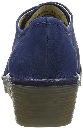 Fly London P500605011, Zapatos de Cordones Mujer Azul (Blue/Blue 010)