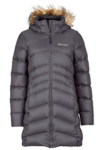 Marmot Montreal Women's Knee-Length Down Puffer Coat, Fill Power 700,Dark Steel,Large -