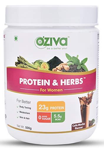 OZiva Protein & Herbs for Women (Chocolate,500g)