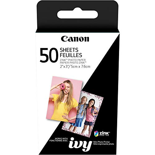 Canon Ivy Mini Mobile Photo Printer (Rose Gold) with Canon 2 x 3 Zink Photo Paper (50 Sheets) and Hard Shell Case Deluxe Bundle by Canon (Image #4)