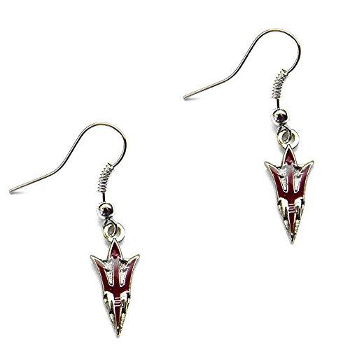 aminco Arizona Sun Devils Fork NCAA Dangle Earring Set Charm Gift