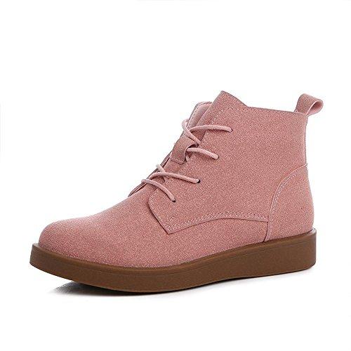 [RSWHYY] レディース ブーツ 靴 厚底 ブリティッシュ 学生スタイル ローカット マーチンタイプ