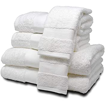 "ELK ROSÉ 6 Piece Extremely Soft & Fluffy 100% Egyptian ""Giza"" Cotton Towel Set for Hotels, Spas & Home – 2 Oversized Bath Towels, 2 Hand Towels, ..."