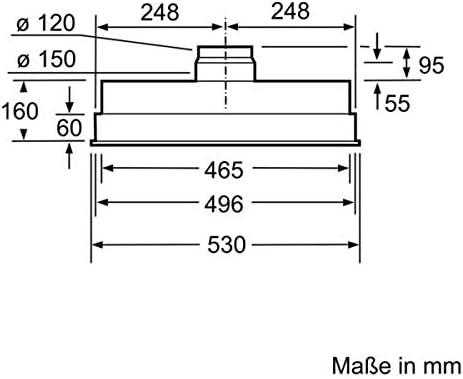 Bosch Serie 4 DHL555BL - Campana (590 m³/h, Canalizado ...