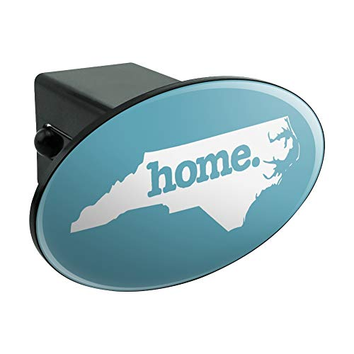 Graphics and More North Carolina NC Home State Solid Robin Egg Blue Officially Licensed Oval Tow Hitch Cover Trailer Plug Insert 2