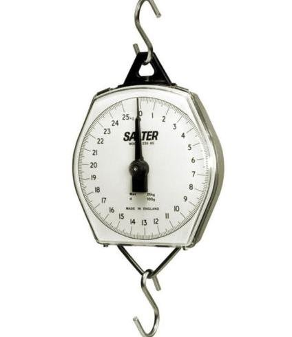 Hanging Scale Salter - Salter Brecknell 235-6S-22/10 Dual-Marked Mechanical Hanging Scale, 22 lb Capacity, 2oz Increments, Corrosion Resistant